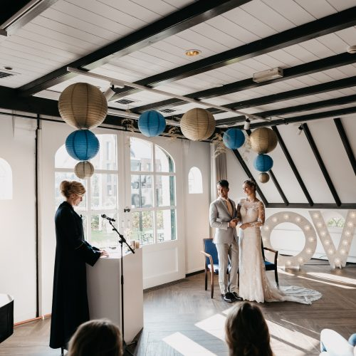 Aankleden bruiloft