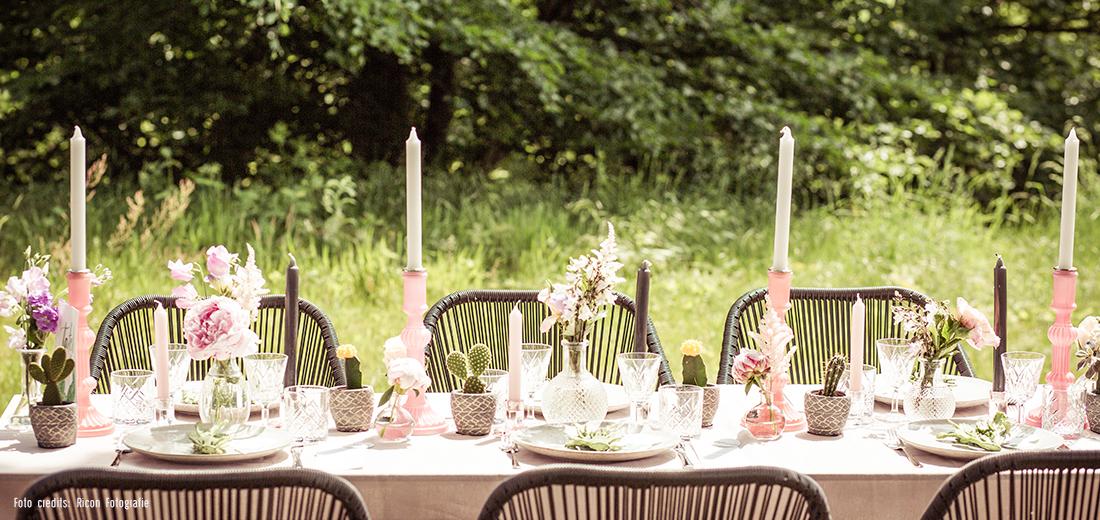 Dinertafel voor je bruiloft