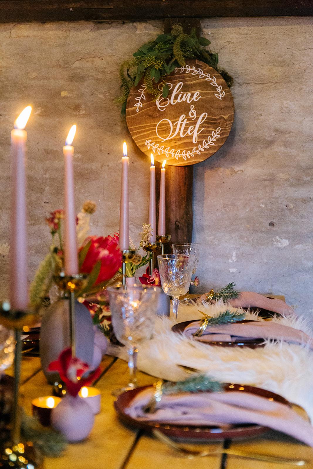 tafelstyling bruiloftdiner