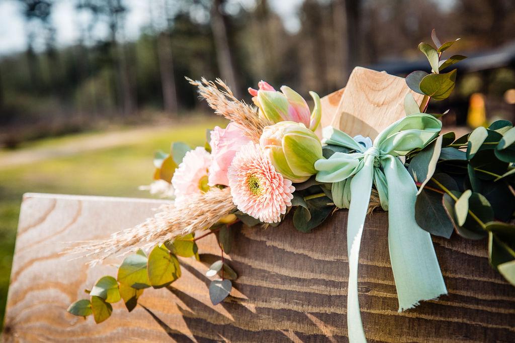 welkomstbord bloemen